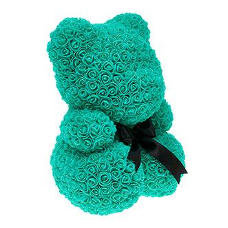 Мишка из роз 40 см цвета Тиффани